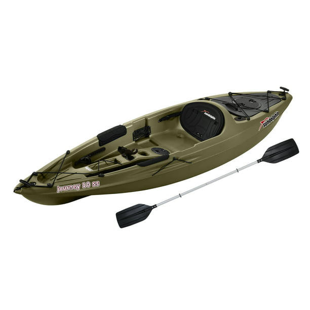 Sun Dolphin Journey 10' Sit-on Angler Kayak Olive, Paddle Included