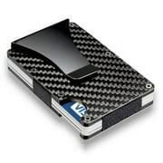 Carbon Fiber Money Clip Wallet Aluminum Credit Card Wallet Mens Minimalist Slim Credit Card Holder