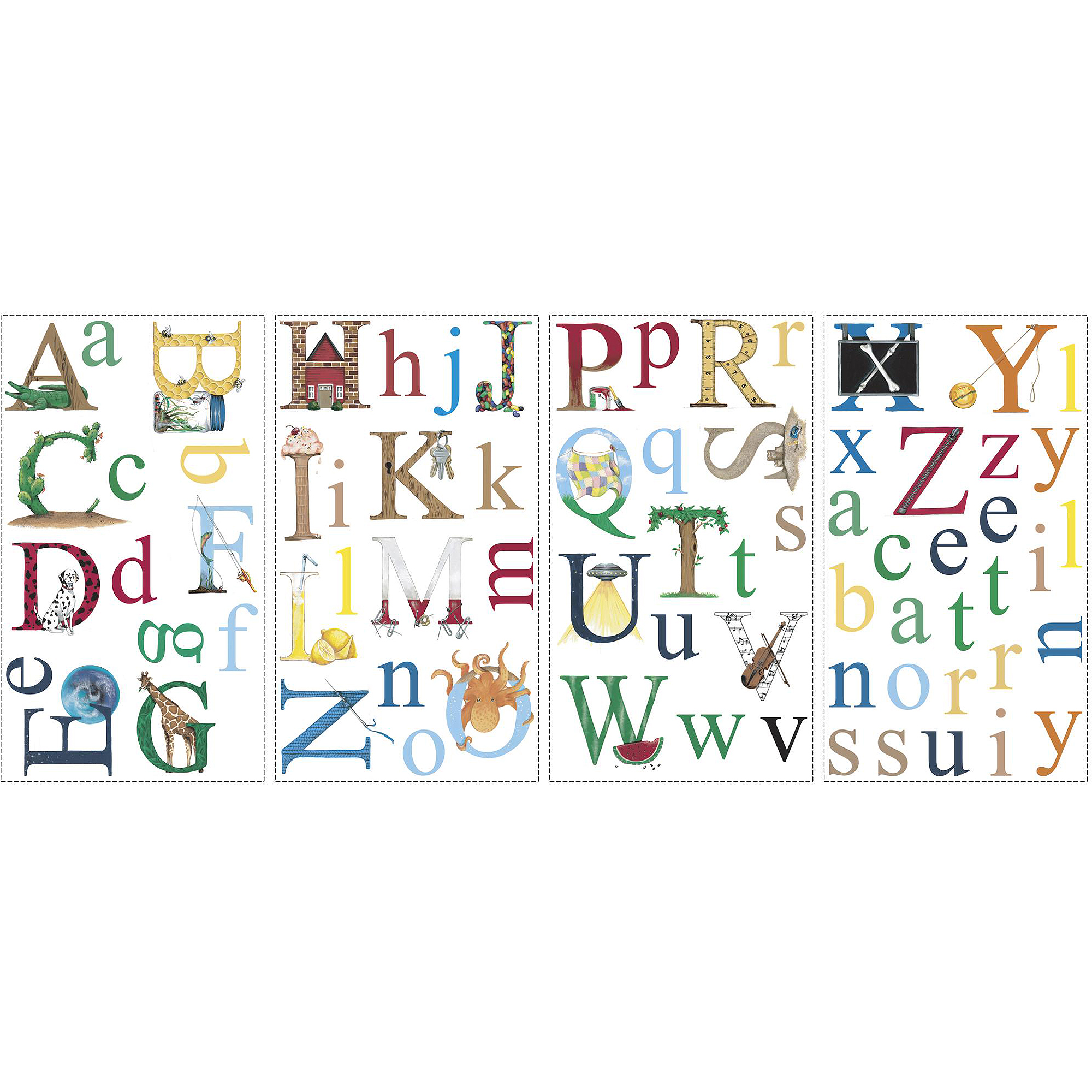 RoomMates Alphabet Peel and Stick Wall Decals