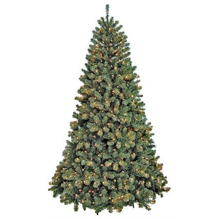 Santas Forest Pre-Lit Christmas Tree, 12 Ft H, Clear Santas Workshop Christmas Tree