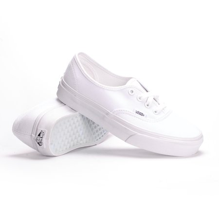 Vans Authentic (True White) Mens Skate Shoe-14 - Unusual Vans Shoes