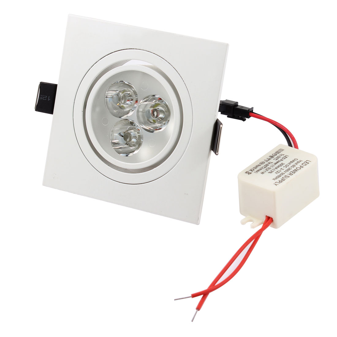 Pure White 3-LED Light Recessed Cabinet Ceiling Down Lamp Bulb AC85V-265V 3W