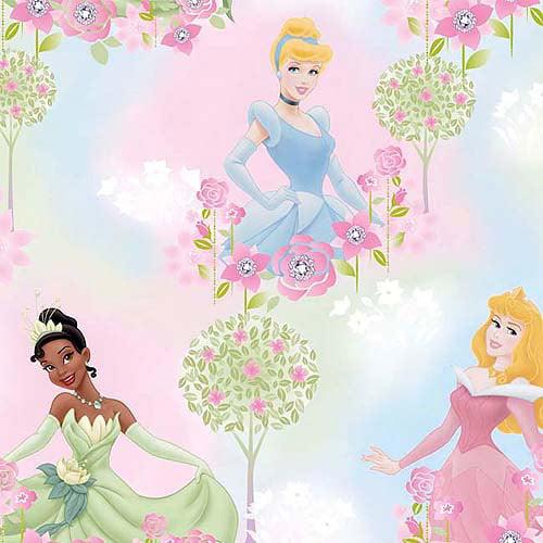 Creative Cuts Fleece Fabric, Disney Princess Pastel Jewels, Pink