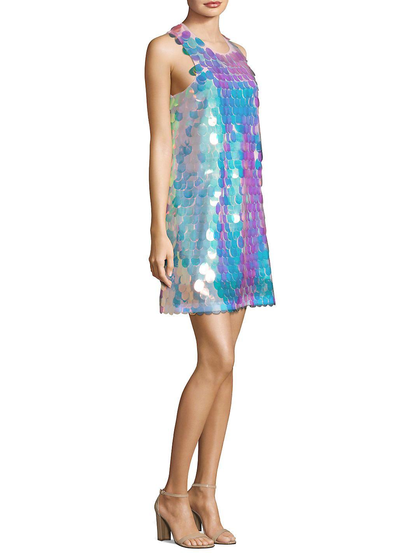 Droplet Pailette Sequin Mini Dress