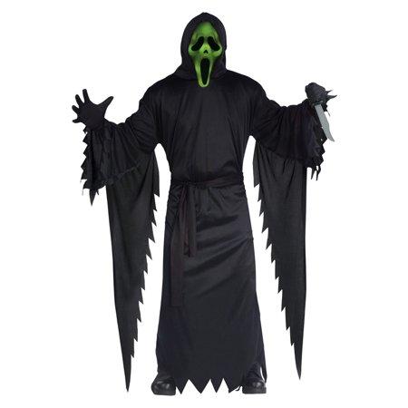 Light-Up Ghost Face Adult Costume - Skeleton Costumes For Men