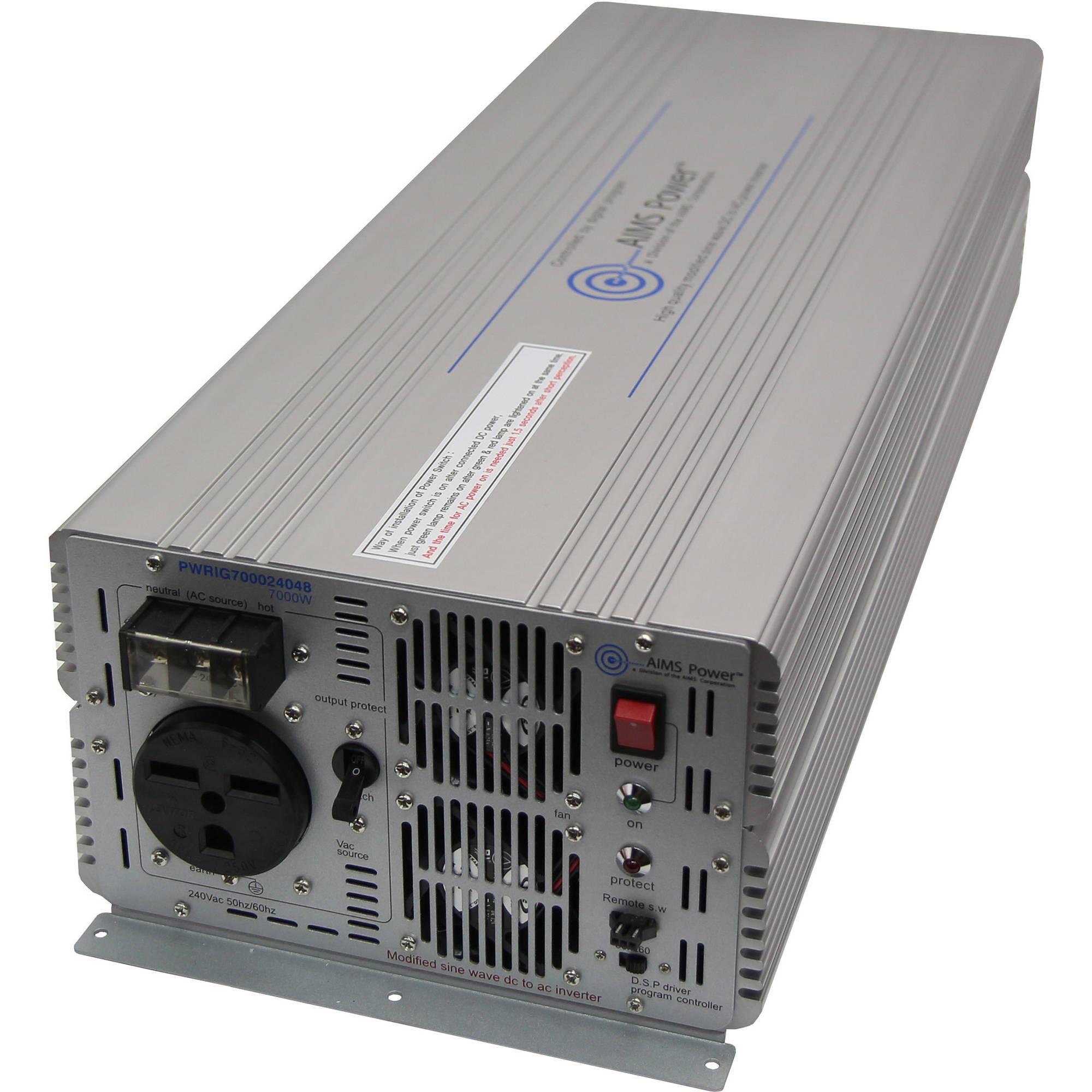 AIMS Power 7000 Watt 48Vdc to 240Vac Power Inverter