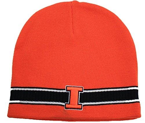 NCAA Illinois Illini Cuffless Knit Beanie Hat by NCAA