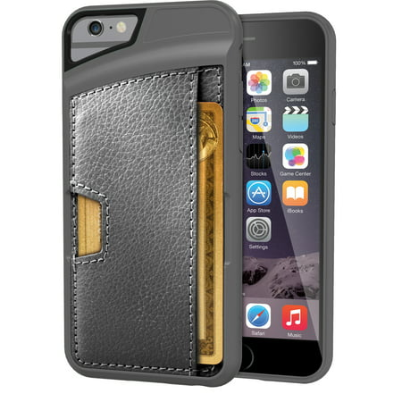 newest 85f70 e280d Silk iPhone 6/6s Wallet Case - Q Card CASE [Slim Protective CM4 Credit Card  ID Phone Cover] - Wallet Slayer Vol.2 - Gray Area