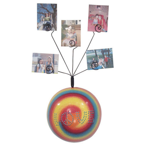 Metrotex Designs Girly Chic Tie Dye LOVE Wall Photo Bubble