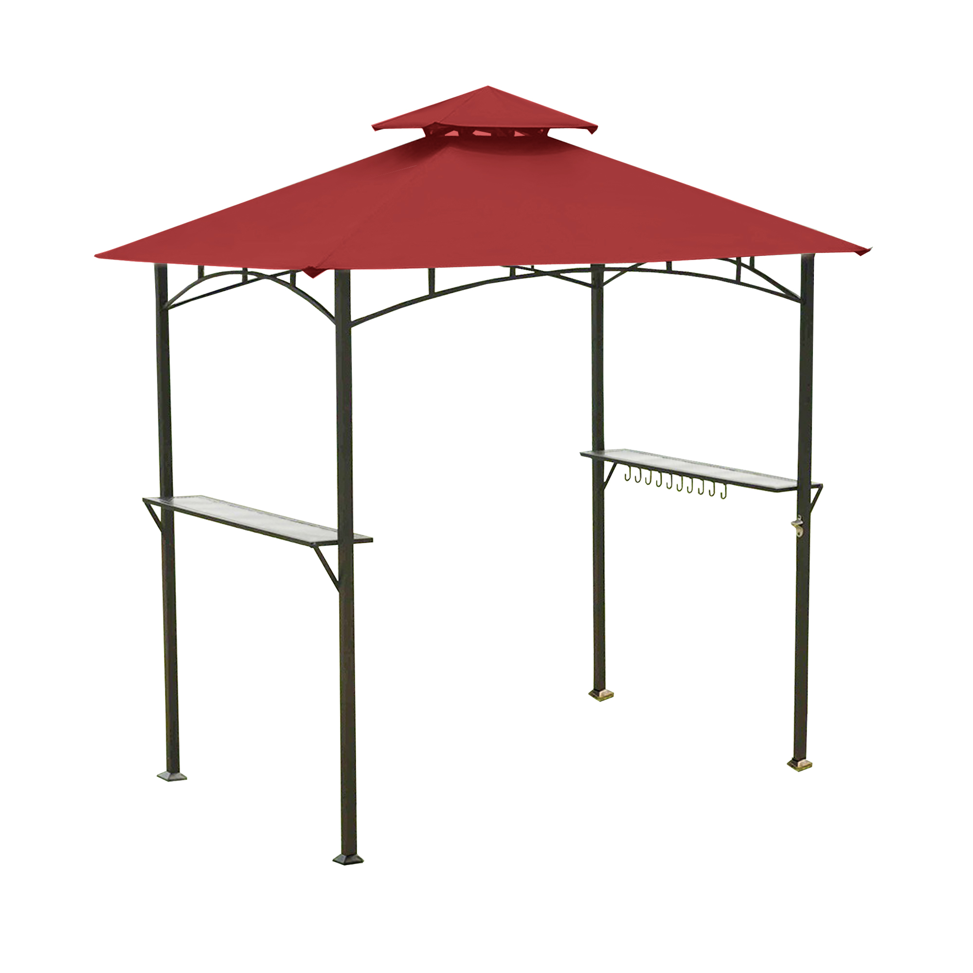 Garden Winds Replacement Canopy Top Cover for the Mainstays Grill Shelter Gazebo - Cinnabar