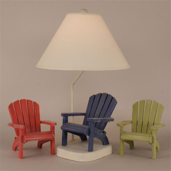 Coast Lamp 12-B22D Wooden Adirondack Chair Lamp - Cottage with Morning Jewel Accent
