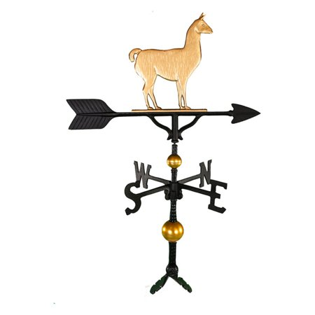 Deluxe Gold Llama Weathervane - 32 - Golden Retriever Weathervane