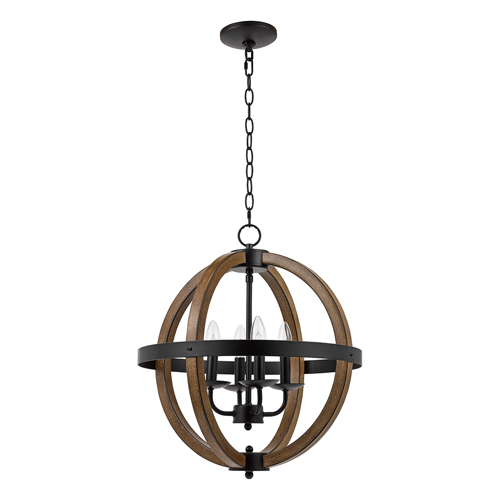 Better Homes & Gardens Round Modern Chandelier, Black Finish by Evolution Lighting LLC