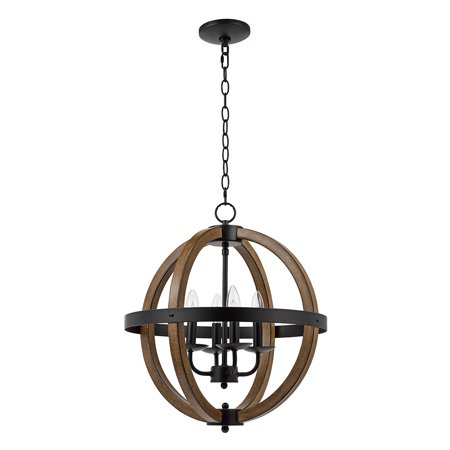 Better Homes & Gardens Round Modern Chandelier, Black - Mocha Finish Chandeliers