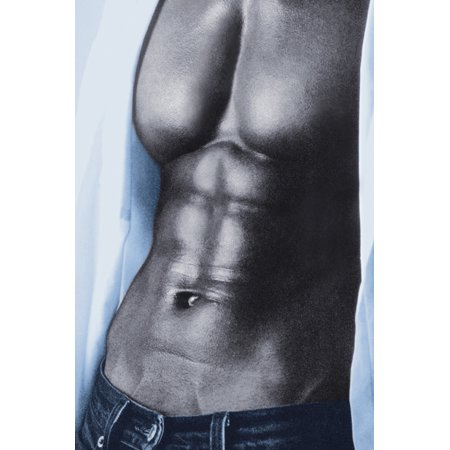 - Blue Jeans Shirtless Man Guy Hot Sexy Photo Art Print Poster 24x36 inch