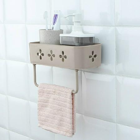 Jeobest Wall Storage Rack Basket - Bathroom Storage Wall Shelf - Wall  Storage Rack Organizer Stick Type Shower Shelf Basket Bathroom Shampoo  Holder ...