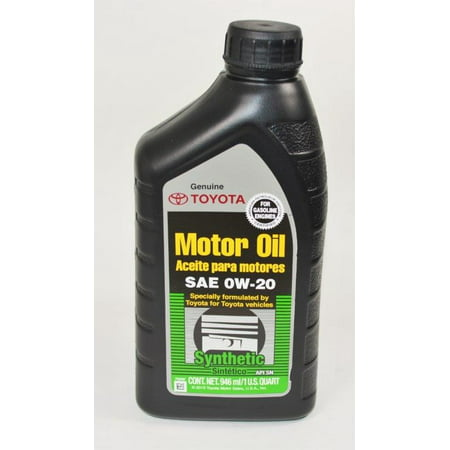 Toyota genuine synthetic sae 0w 20 for Motor oil api rating