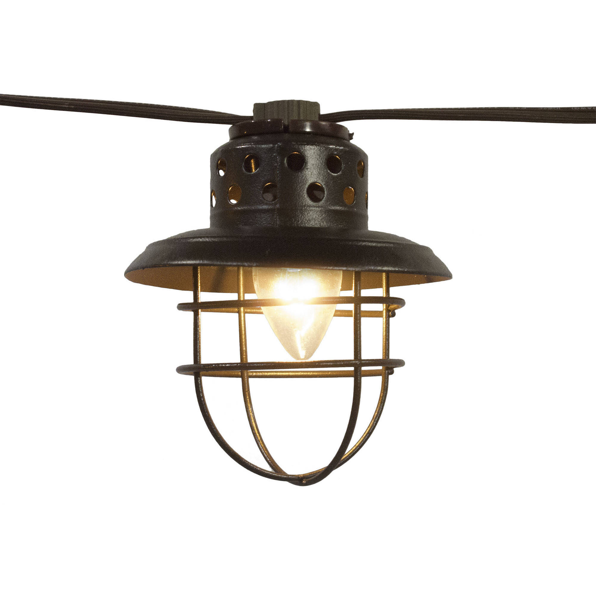 Better Homes and Gardens Outdoor Vintage Cage Lantern String Lights