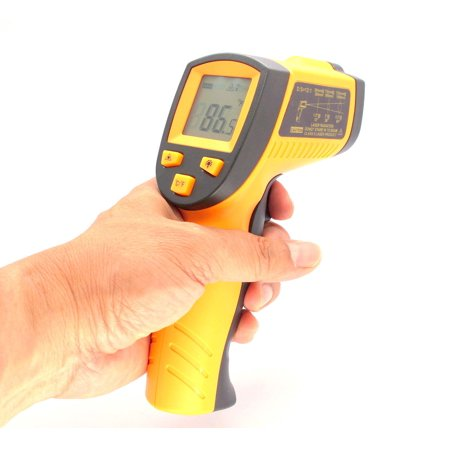 Laser Temp Gun - Cybertech Non-Contact Industrial IR Infrared Digital Thermometer Gun with Red Laser Targeting
