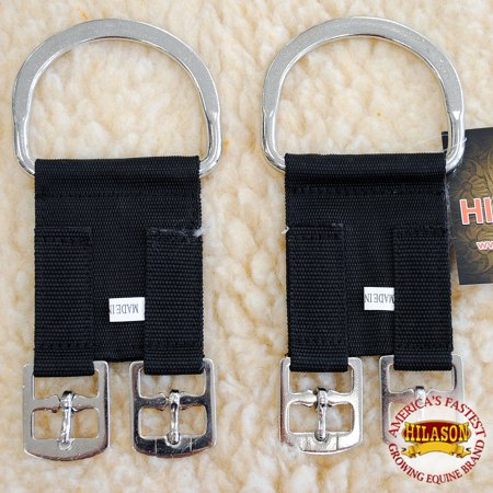 NEW SET OF 2 HILASON 2 BUCKLE HORSE SADDLE WESTERN GIRTH CINCH CONVERTER ENGLISH (English Girth)