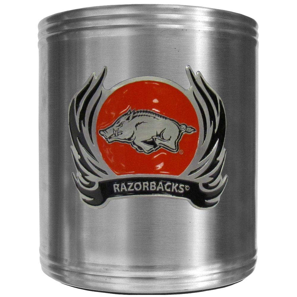 Arkansas Razorbacks Steel Can Cooler Flame Emblem (F)
