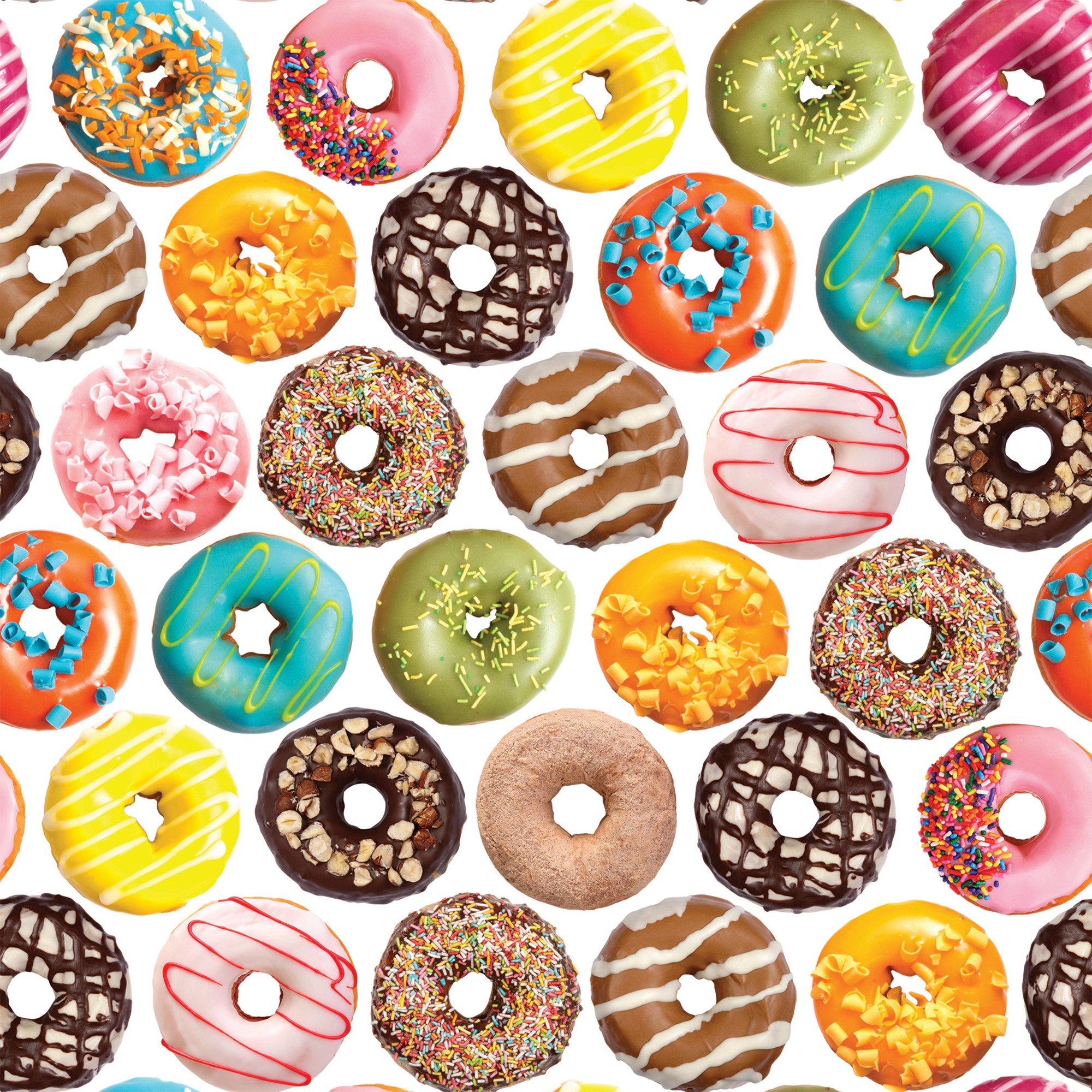 """Jillson & Roberts Gift Wrap, Donuts, 5' x 30"""" Rolls (8 Pcs)"""
