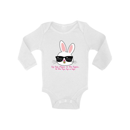 Awkward Styles Hip Hop Easter Bunny Baby Bodysuit Long Sleeve Cool Easter Bunny One Piece Top Easter Gifts for Baby First Easter Outfit Easter Holiday Bodysuit for Baby Easter Bunny With Shades Top](Baby Bunnies For Sale In Chicago)