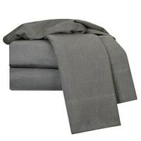 Heavyweight 100% Cotton Flannel Sheet Set Cotton Bed Sheets Set, Queen Size Cotton Sheet Set