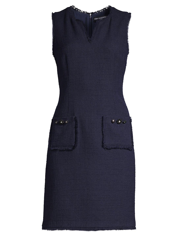 Tweed Shift Dress