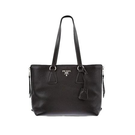 0eb289f8d797 Prada - Prada Women's Vitello Diano Leather Side-Zip Tote Bag 1BG099 Black  - Walmart.com