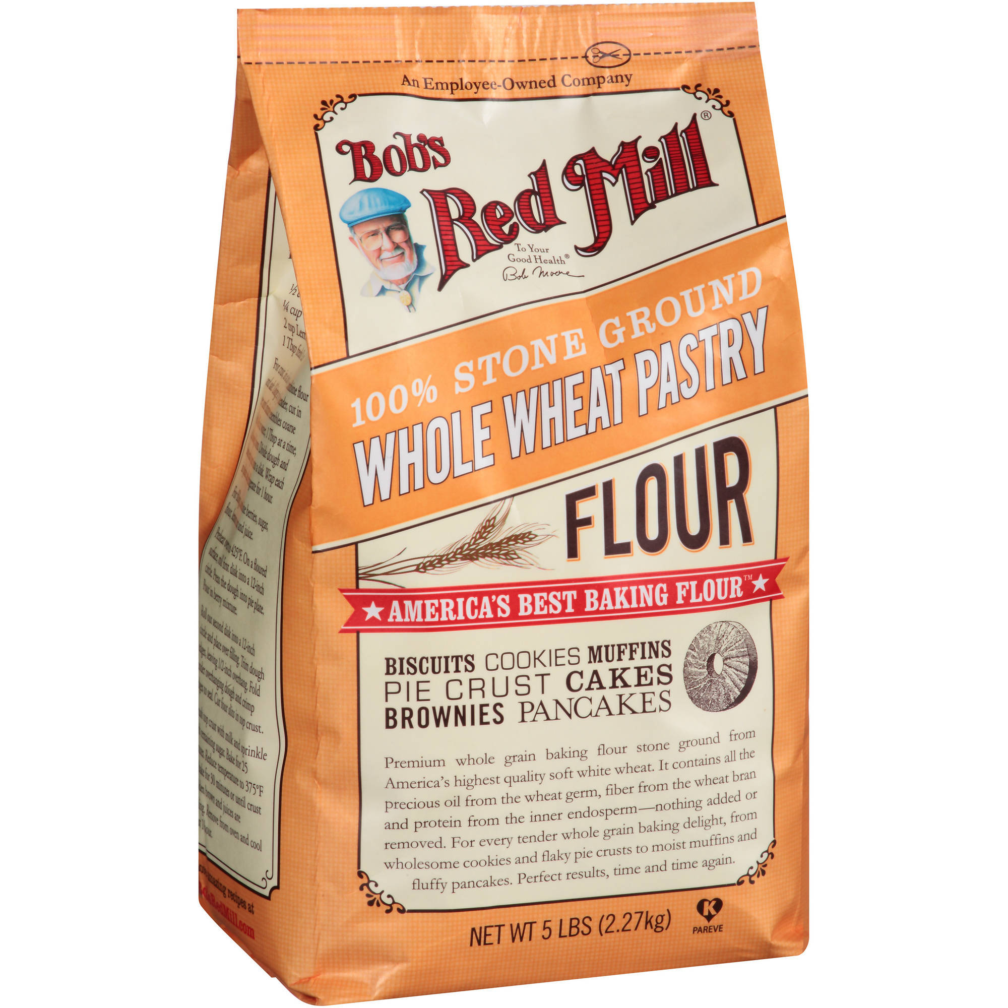 Bob's Red Mill 100% Stone Ground Whole Wheat Pastry Flour, 80 oz
