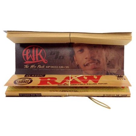 Wiz Khalifa Raw Connoisseur King Size Slim Rolling Papers With Tips 1 Pack, RAW has earned itself a cult-like following among natural-minded.., By Raw