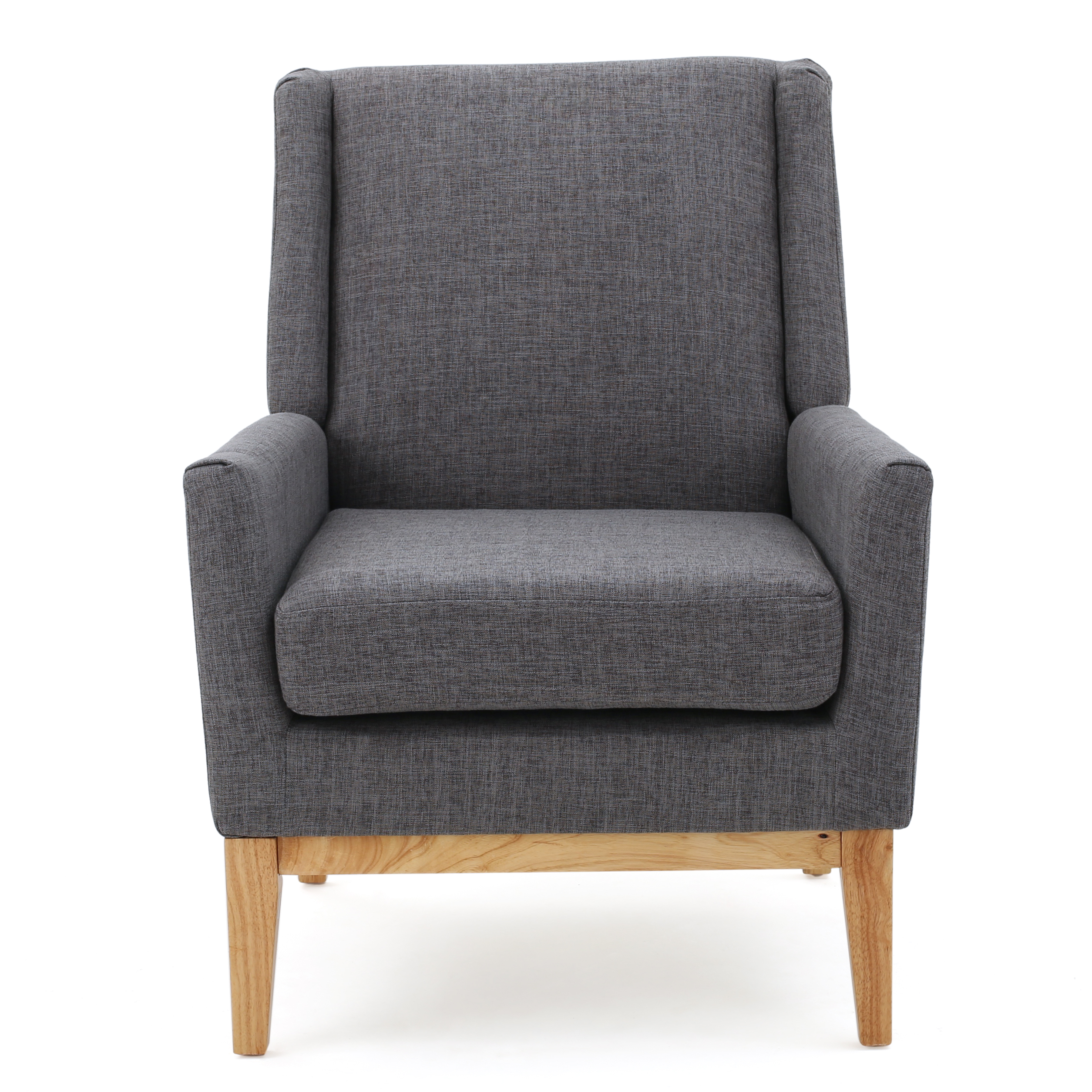 Attrayant Archibald Mid Century Modern Fabric Accent Chair, Light Grey