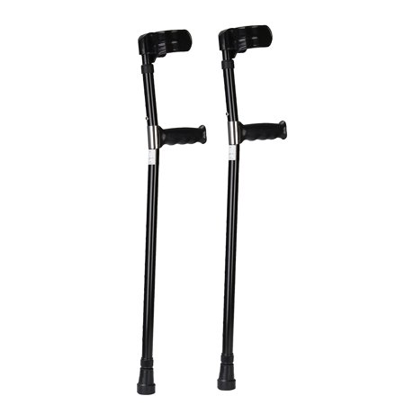 1 Pair Universial Aluminum Anti-slip Medical Adjustable Height Walking Forearm Crutches Walking Crutche Stick Lightweight Arm Cuff Elbow Armor Prevent-shaking Adult - image 6 de 9