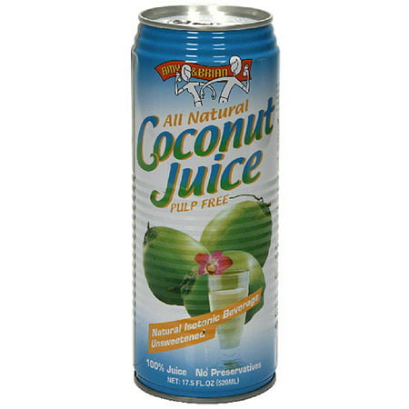 Amy   Brian Unsweetened Coconut Juice  17 5Fo  Pack Of 12