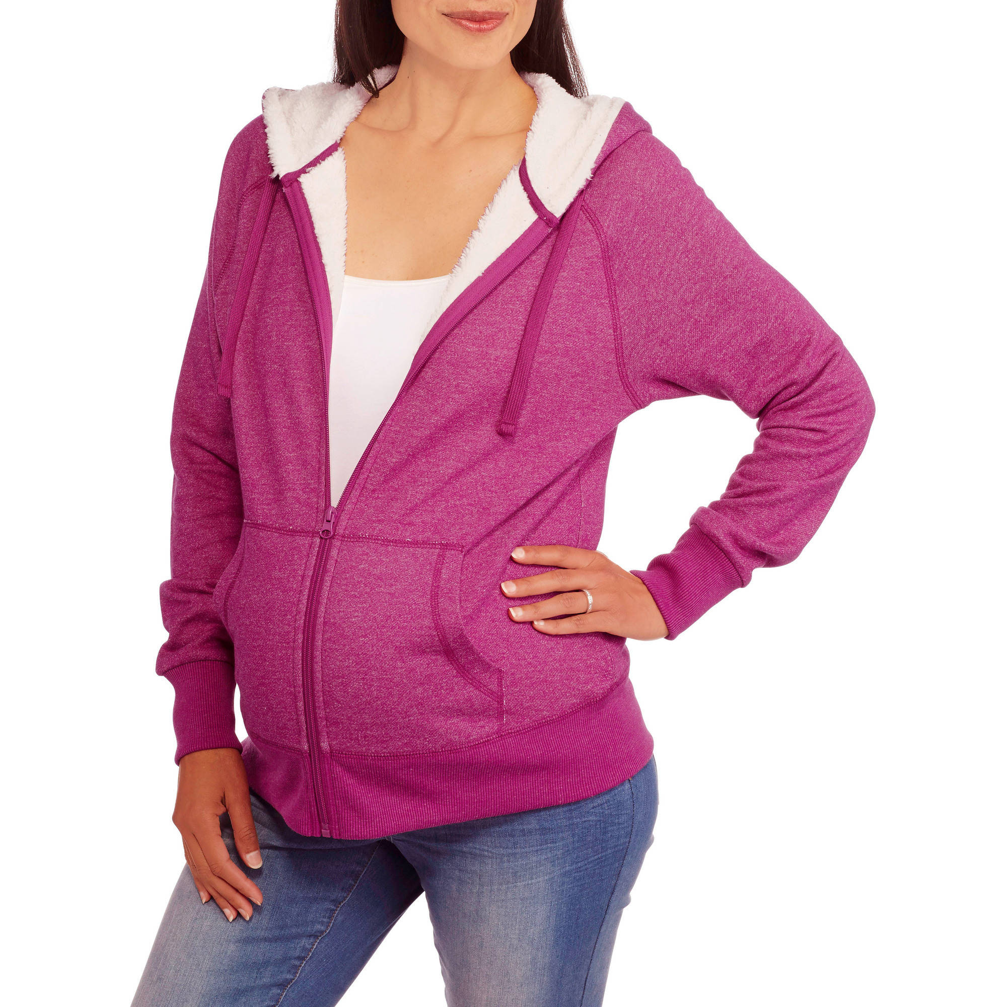 Faded Glory Maternity Sherpa Hoodie
