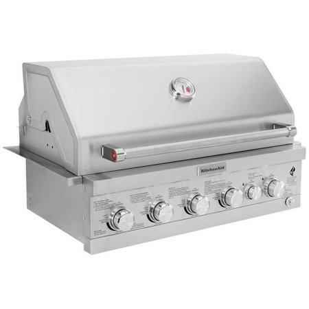 KitchenAid 36-Inch Built-In Propane Gas Grill With Searing Burner & Rear  Burner