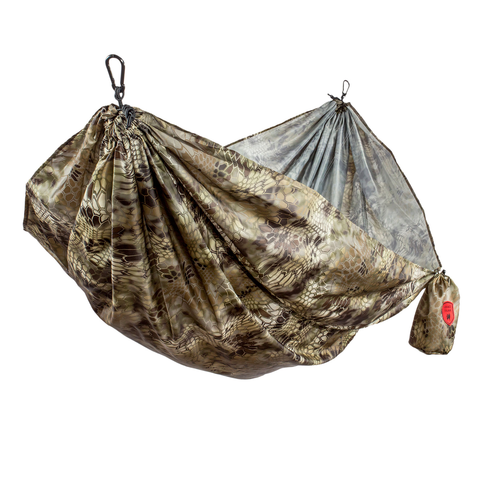 Grand Trunk Kryptek Double Hammock Outdoor Camping Travel Camouflage Lightweight
