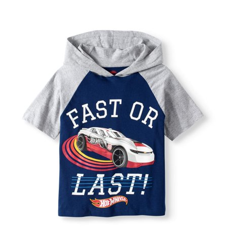 'Fast or Last' Hooded Raglan (Little Boys) (Buy Latex Hood)