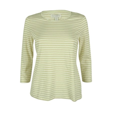 Charter Club Women's 3/4 Sleeve Crew Neck Top (Charter Club Collections)