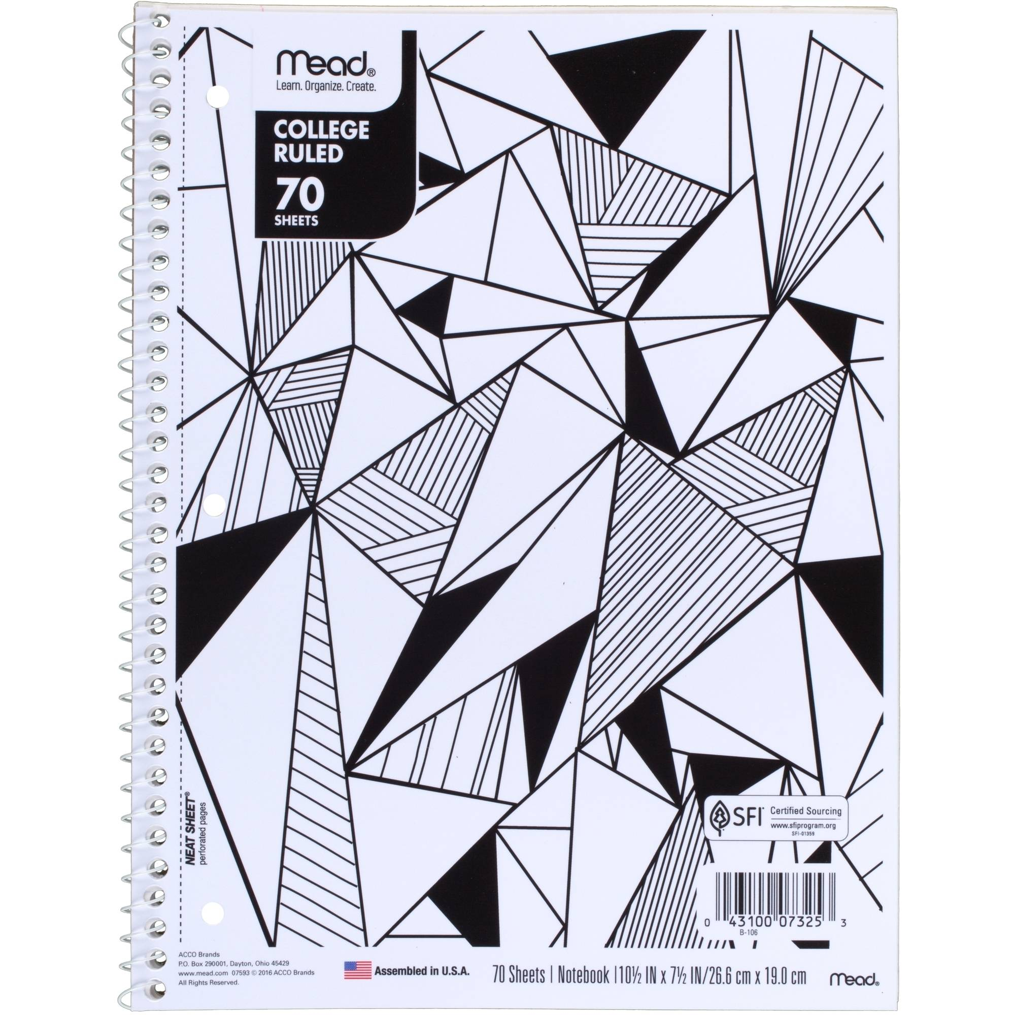 Mead Fashion 1-Subject Composition Book, College Rule, 70 Sheets