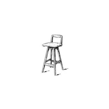 Woodworking Project Paper Plan to Build Swivel Bar Stool with Back - Build A Bear Offers