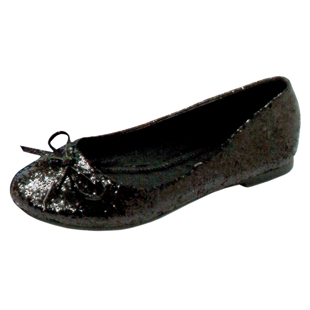 Glitter Ballet Flats With String Bow Great For Costumes Womens Shoes