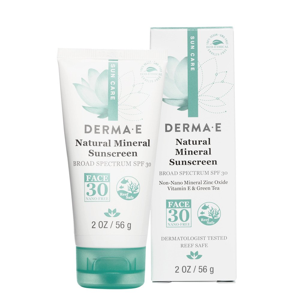 Derma E Natural Mineral Facial Sunscreen, SPF 30, 2 Oz