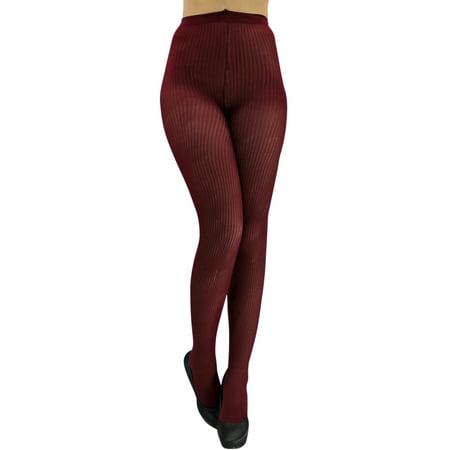 30c367f210e Luxury Divas - Luxury Divas Ribbed Knit Semi Sheer Nylon Tights ...