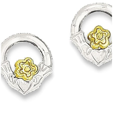 (ICE CARATS 925 Sterling Silver Vermeil Irish Claddagh Celtic Knot Mini Post Stud Ball Button Earrings Fine Jewelry Ideal Gifts For Women Gift Set From Heart)