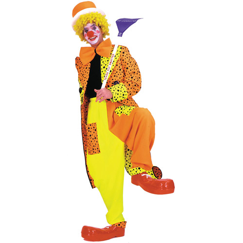 Dapper Dan Neon Clown Adult Halloween Costume