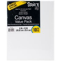 Darice Stretched Canvas Value Pack, 8 x 10 inches, 10 Pack