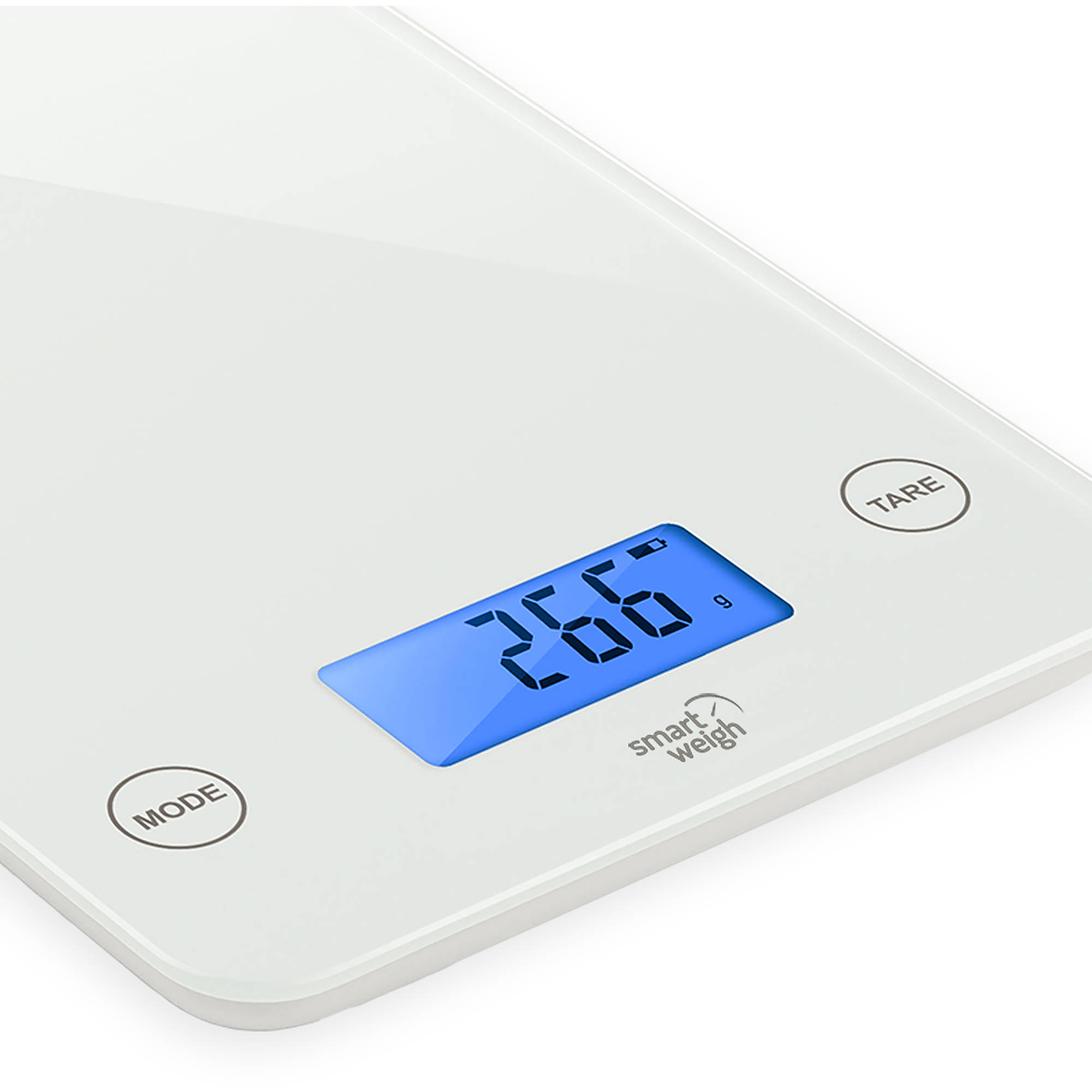 Smart Weigh Digital Kitchen Scale with Glass Top, Audible Touch ...