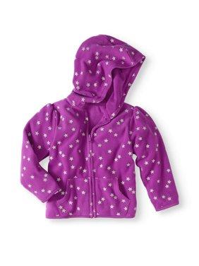 Baby Toddler Girl Micro Fleece Print Hoodie